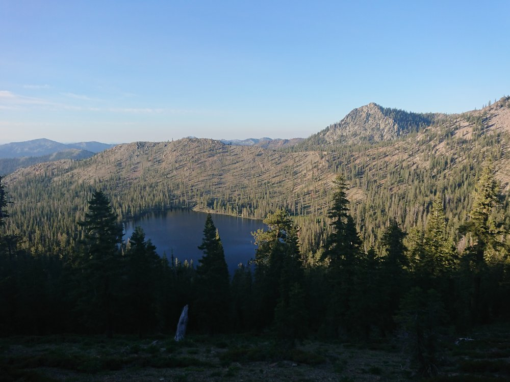 This section in the Trinity Alps pass a lot of lakes