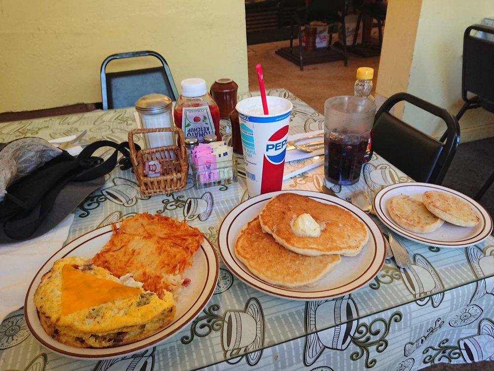 I had a lot of food at the Cafe!
