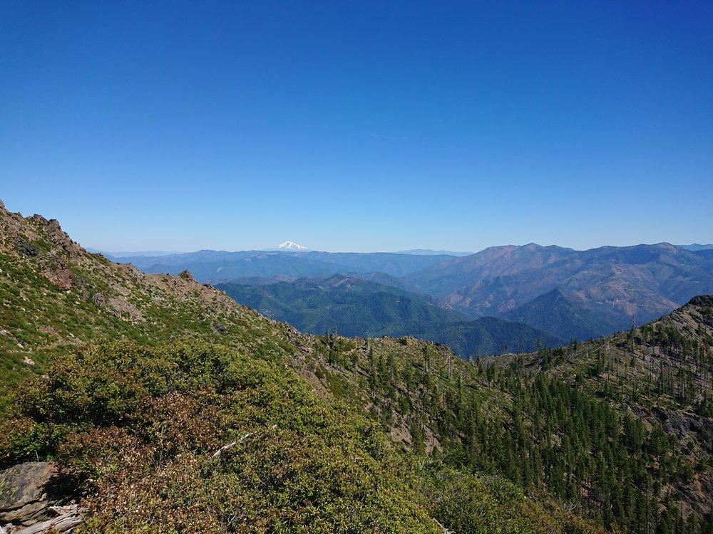 Mount Shasta still visible