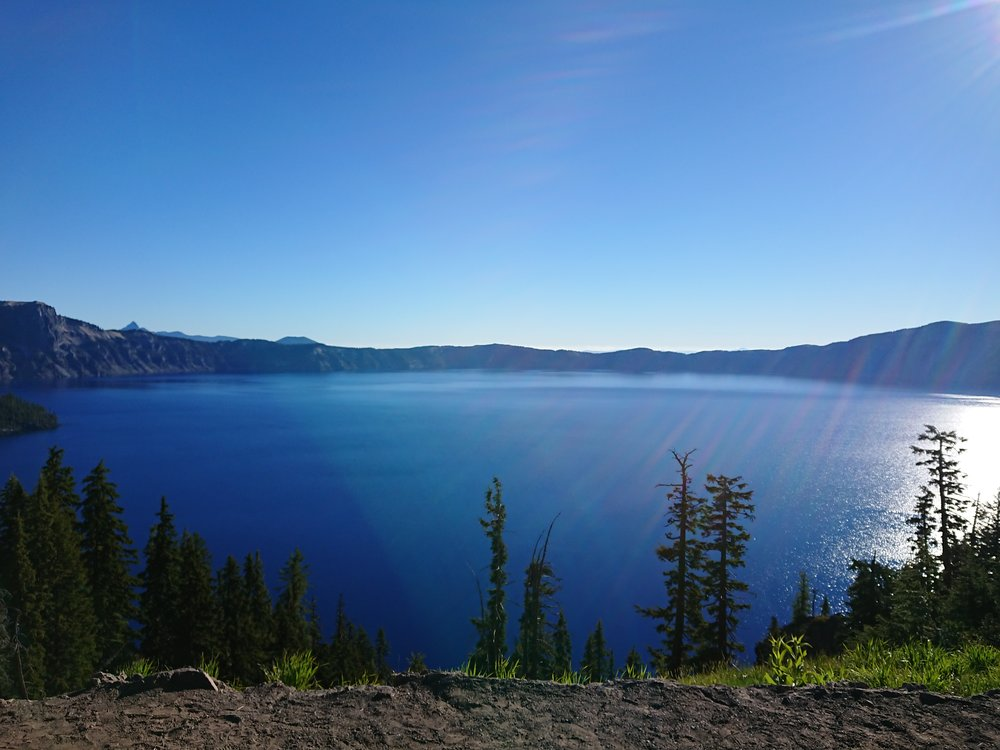 One of my first views of Crater Lake