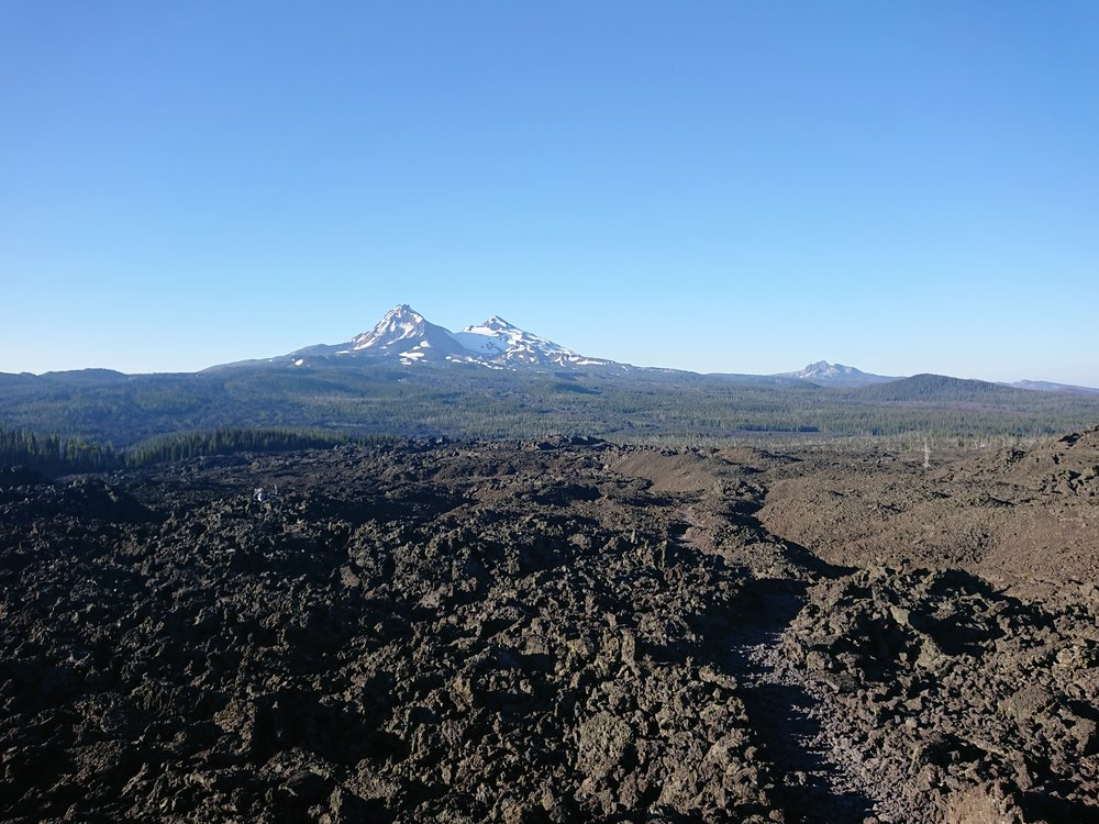 The big open lava field provided excellent views