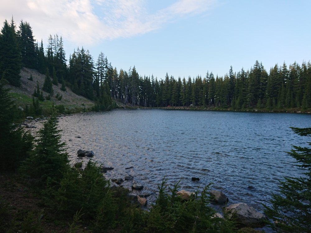 Rockpile Lake where I camped