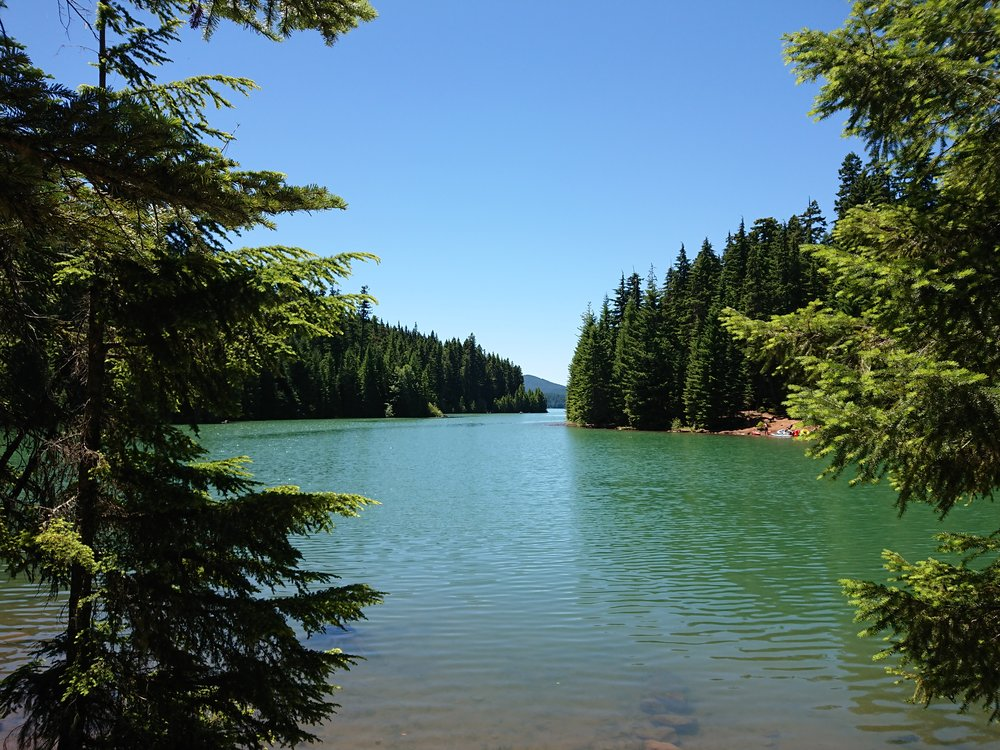Timothy Lake where I had lunch