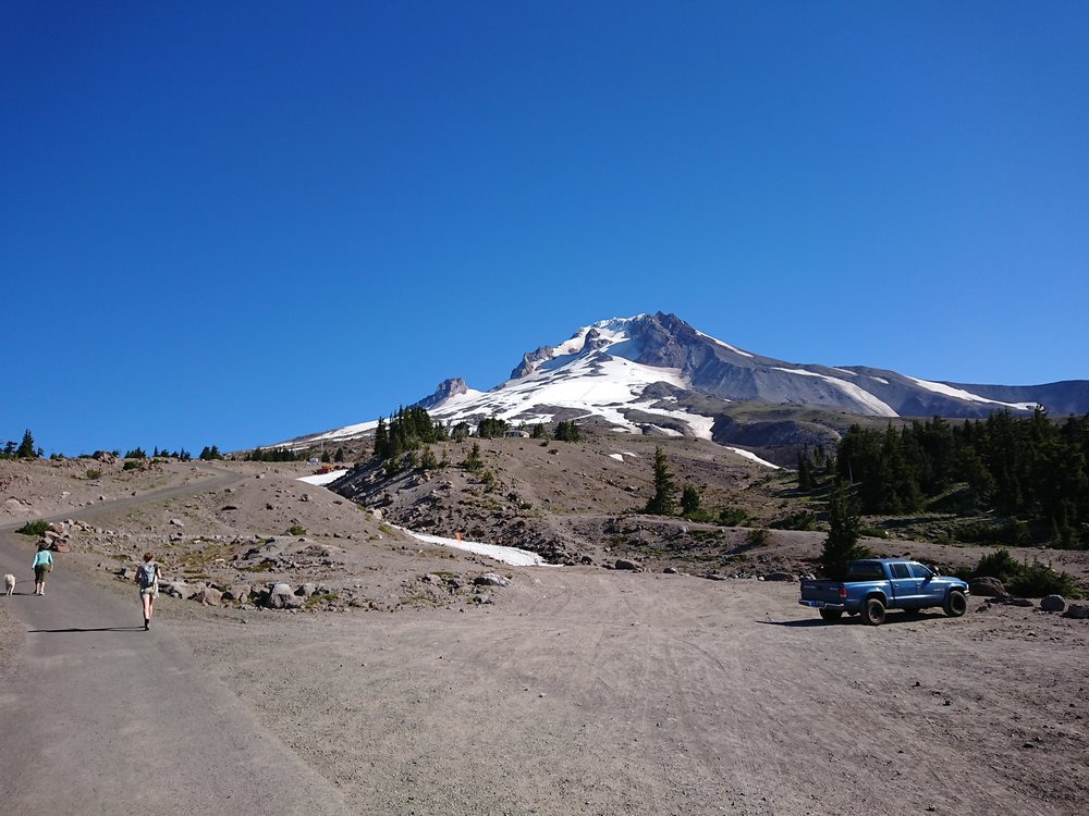 View of Mt Hood as I am leaving Timberline Lodge