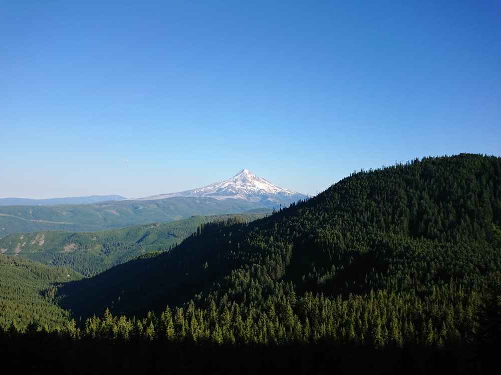 Looking back at Mt Hood later in the day