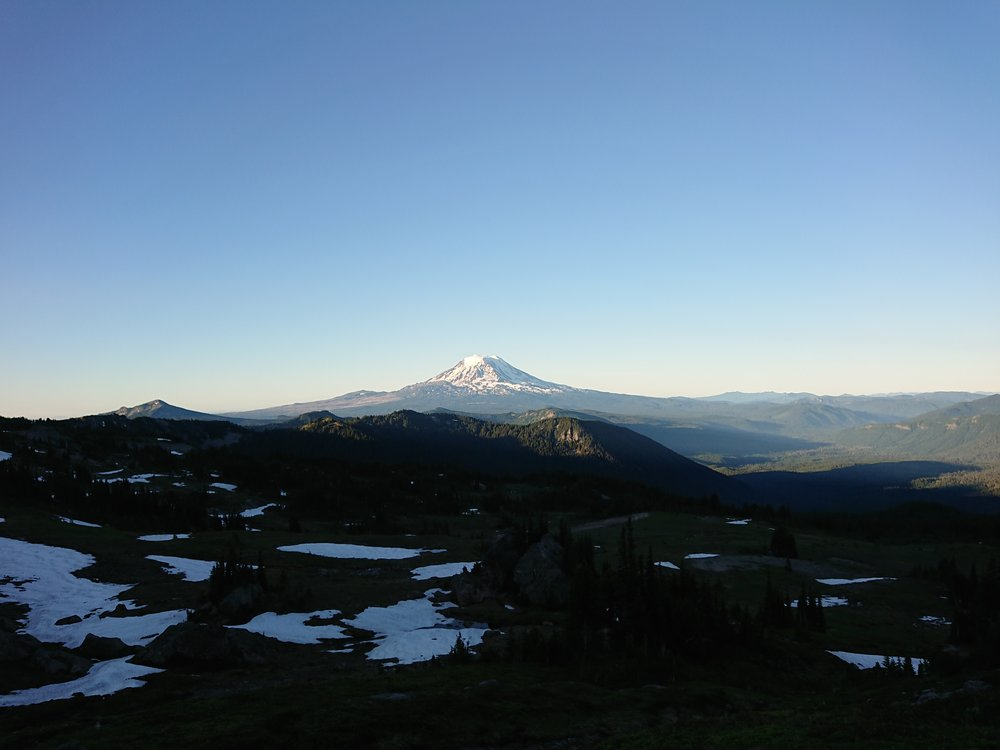 Looking back at Mount Adams I believe