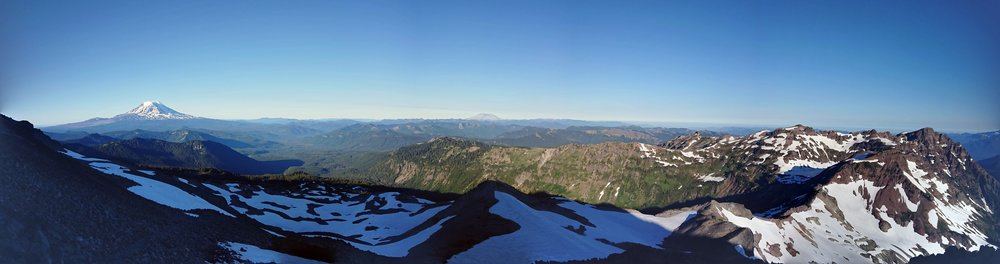 Panorama looking back at Mount Adams