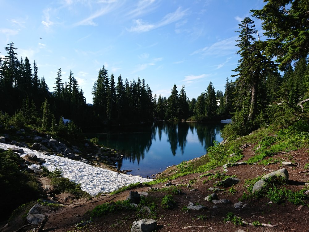 Small lake after the climb out of Snoqualmie Pass