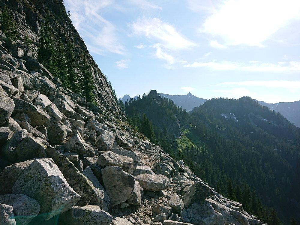Rough rocky trail
