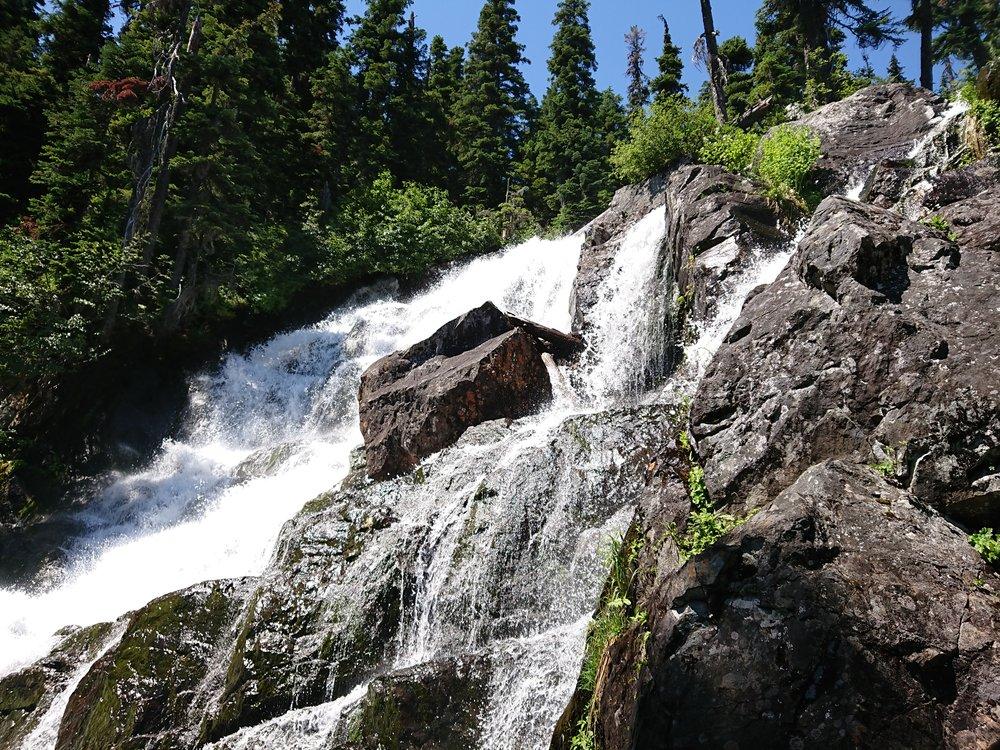 Waterfall where I had lunch