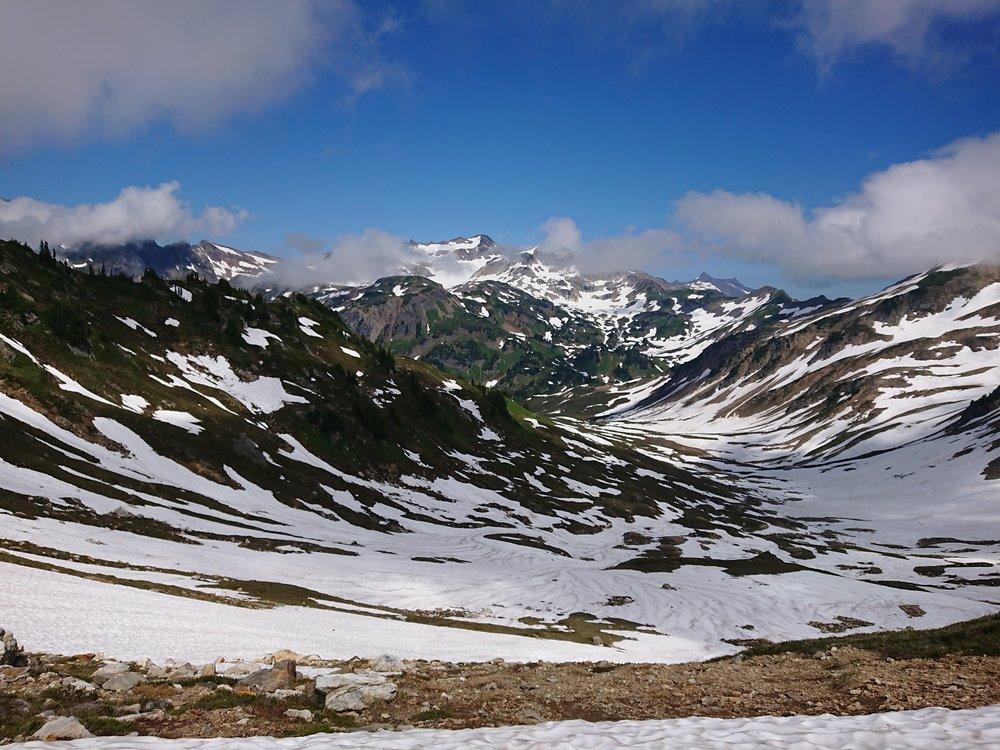 Quite some snow in Glacier Peak Wilderness.