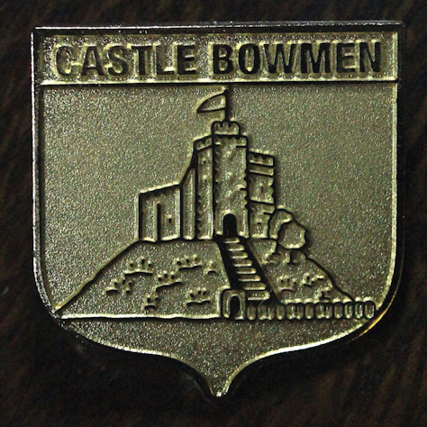 New for anyone joining the club -When Joining Castle Bowmen you will also receive our excellent Gold (colour) metal Club Badge.pictured here -