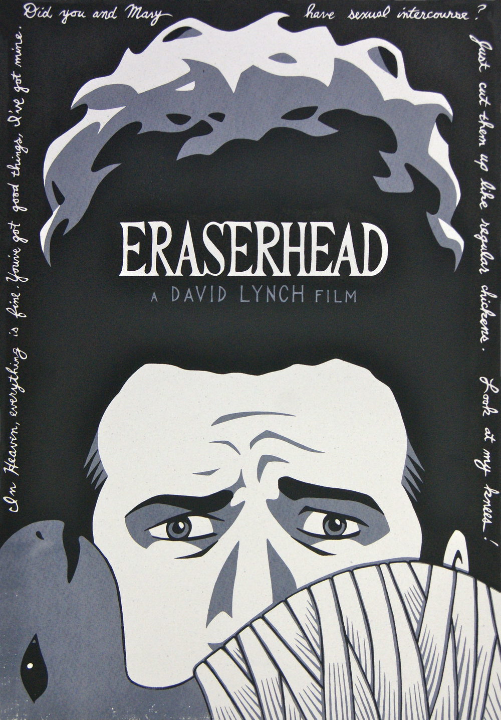 Eraserhead (Film Poster) . Screen Print. 2011. A2