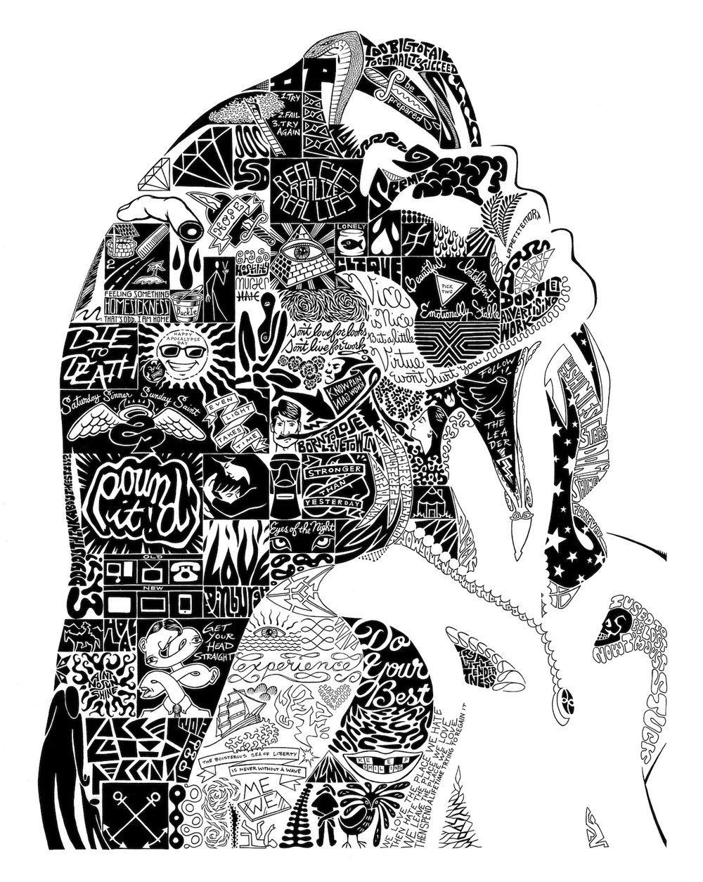 "La Petite Mort . Ink. 2012. 21x27"""