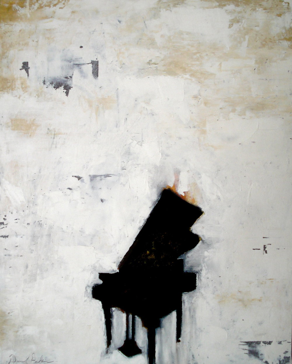Piano . Oil on Panel. 2007. 16x20""