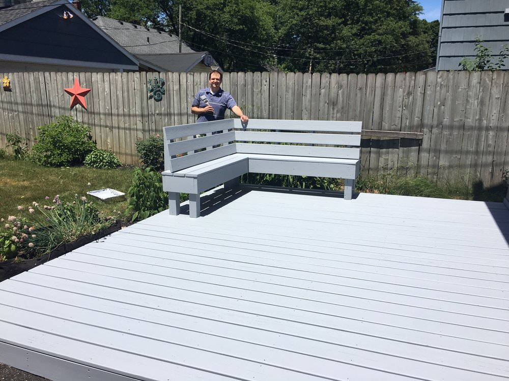 """"""" It was a pleasure working with Josh and Stamp Paints! They were able to fit my job into their busy schedule and accommodate my deadline for an upcoming event. Great customer service and ultra professional throughout the process from estimate to follow up... I highly recommend Stamp Paints! """"   -Michele G."""
