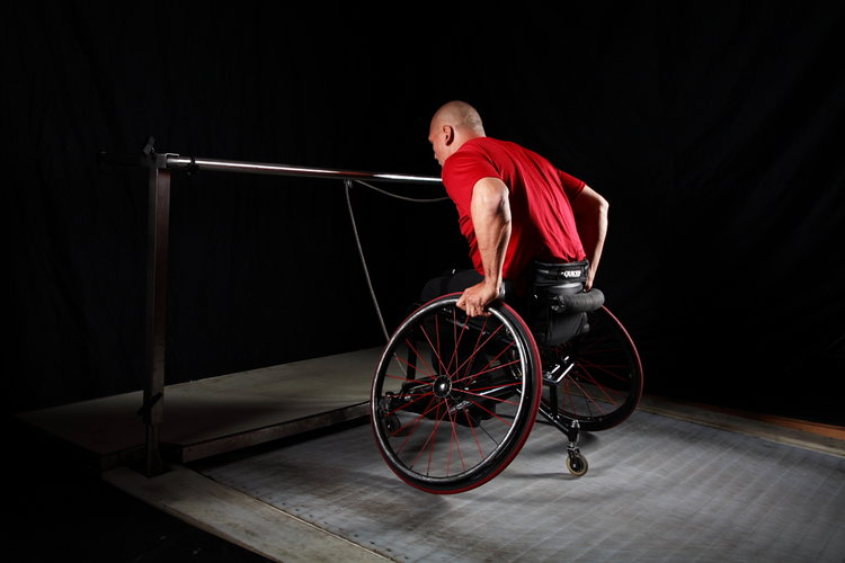 WHEELCHAIR TRAINING   Many gyms and fitness centres don't cater for wheelchair training. Steve Ramsbottom, Author of the book 'Wheelchair Training', is passionate about helping athletes of all abilities train their way to a better body.