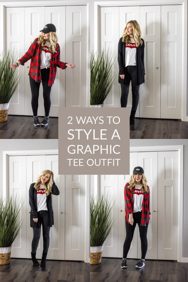 a1195d40 2 Ways to Style A Graphic Tee Outfit (Dressy + Casual) — Adrianna Bohrer