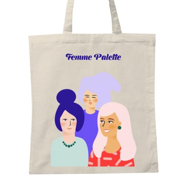 Femme Friends tote bag - Cotton tote bag with Femme Palette illustration390 CZK