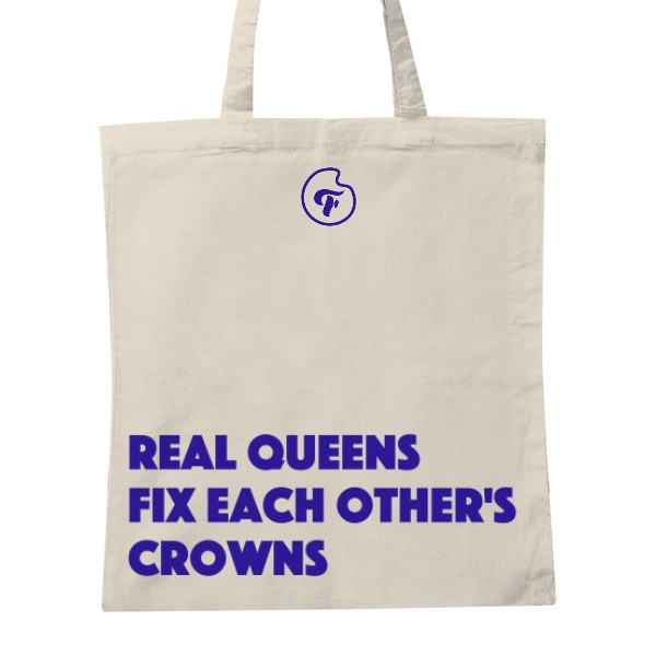 Queens tote bag - Cotton tote bag with slogan390 CZK