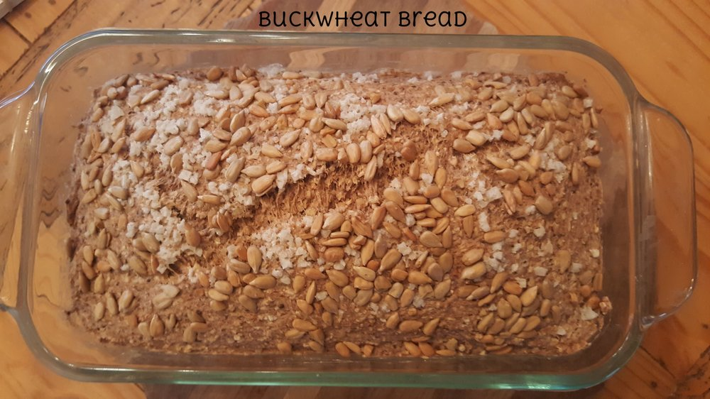 Buckwheat loaf with sunflower seeds comes alive when toasted.