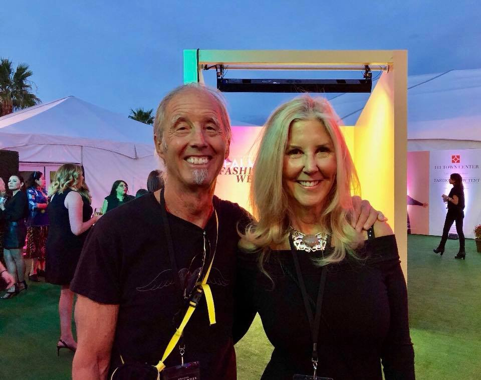 Gayle and Fashion Photographer Gary Bindman at Fashion Week 2018.