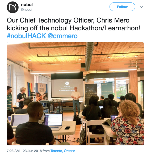 - When asked about what he hopes to get out of the hackathon, Chris stated that he hopes to hear really good ideas, and get even better ideas for the marketplace.