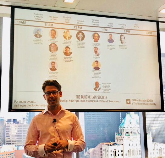 - To kick off the conference, The Blockchain Society's very own, Bill Hennessey, welcomed all guests and speakers, before introducing us to today's MC, Scott Howard of ePic Blockchain Technologies Inc.