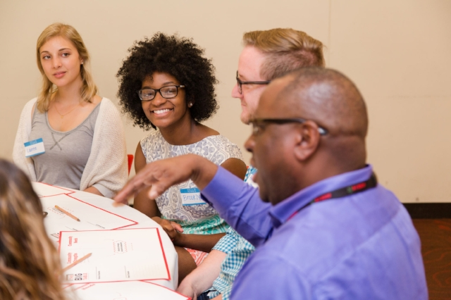 The Columbus Foundation is one of dozens of community foundations nationwide who bring citizens together around the table to discuss key challenges and to find common ground. Photo courtesy of The Ohio State University.