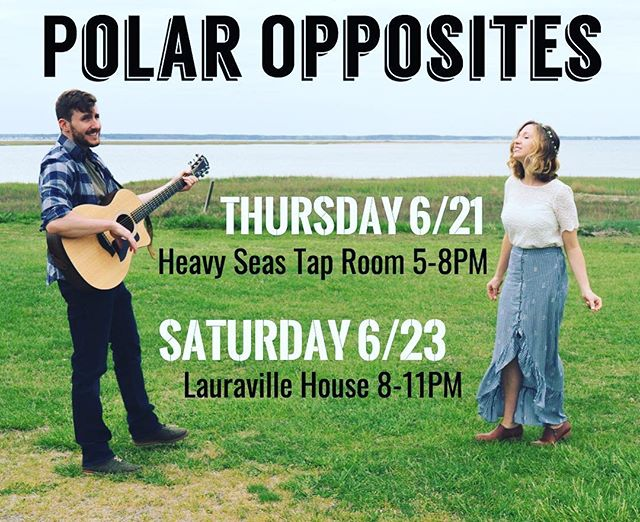 BALTIMORE! Shows this weekend: THURSDAY night, take in the energy of the #summersolstice with us and @heavyseasbeer at Heavy Seas Tap Room for a First Day of Summer BBQ 🍻🐷 On SATURDAY, we'll be keeping the warm weather vibes strong (and the BBQ vibes delicious) while we jam out at @lauravillebbqhouse! We hope you come for the music, and we KNOW you'll stay for the BBQ 📸 cred: @matt_thelandon . . . . . . #weekendplans #baltimorelivemusic #firstdayofsummerbbq #heavyseastaproom #baltimorebbq #polaroppositesband #eatlocal