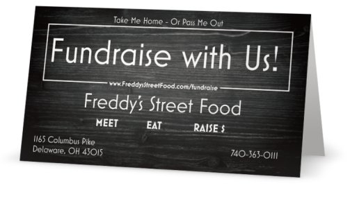 - FUNDRAISE AT FREDDY'S STREET FOOD