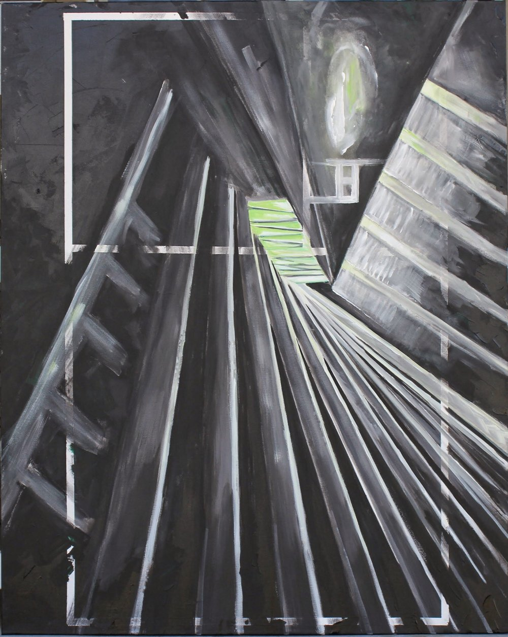 """Black Stairs"" 48x60"