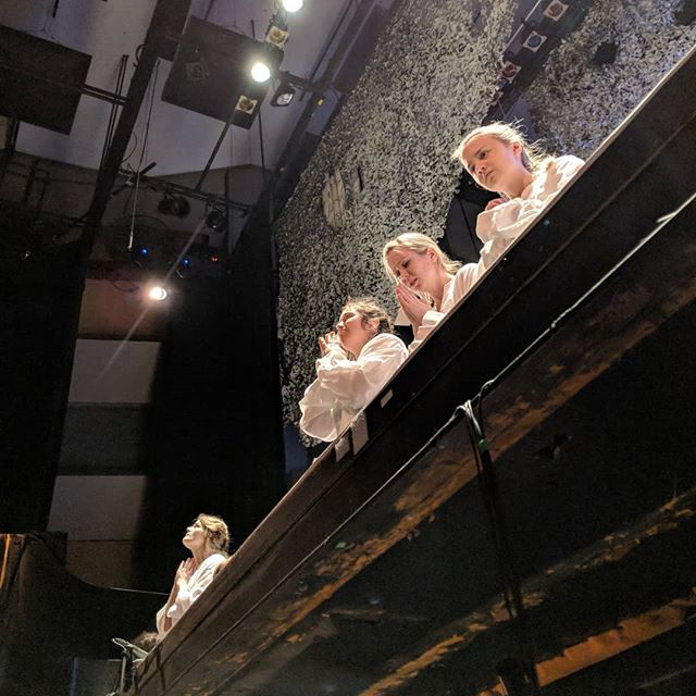 The view from below! . A big, beautiful weekend for @operamcgill with both Bernstein's Candide and Poulenc's Dialogues des Carmélites playing. . Sending lots of love to all of my colleagues ♥️