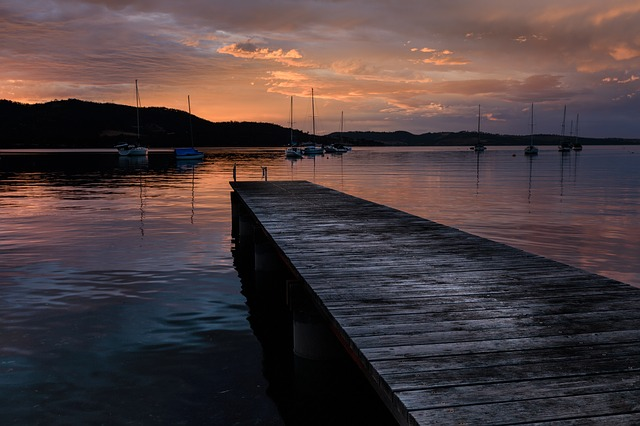 View of pier in tasmania