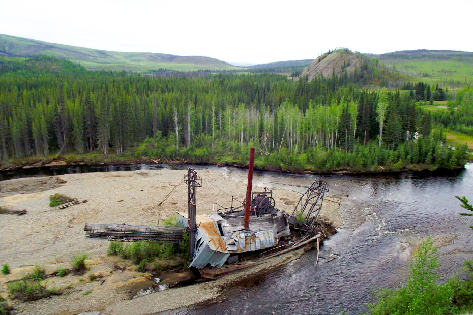 Lost Chicken dredge located on the Mosquito fork