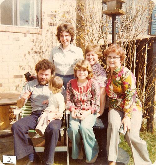 March 13, 1977 / Falls Church, VA  L-R Richard w/Sarah, Anna, Sandra & Ruth J. Walter back Carole M. Earle