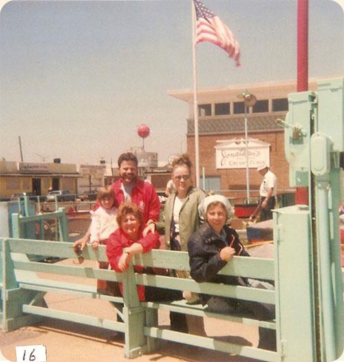 June 1979 / Ocean Grove, N.J.  L-R Sarah A., Sandra P. & Richard Walter, Lea W. Gregory, Carole W. Earle