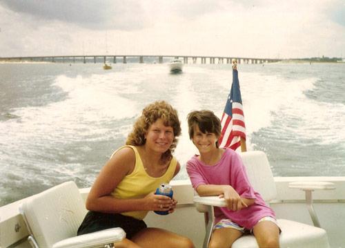 July 1987 / Virginia Beach , VA  Enjoying time on James (Jim) B. Walter's yacht. L-R Anna M. Walter & Sarah A. Walter