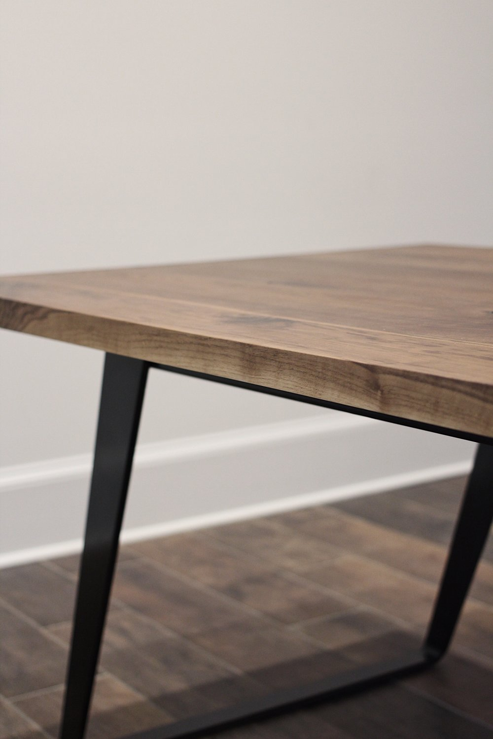 Walnut + Steel Conference Table