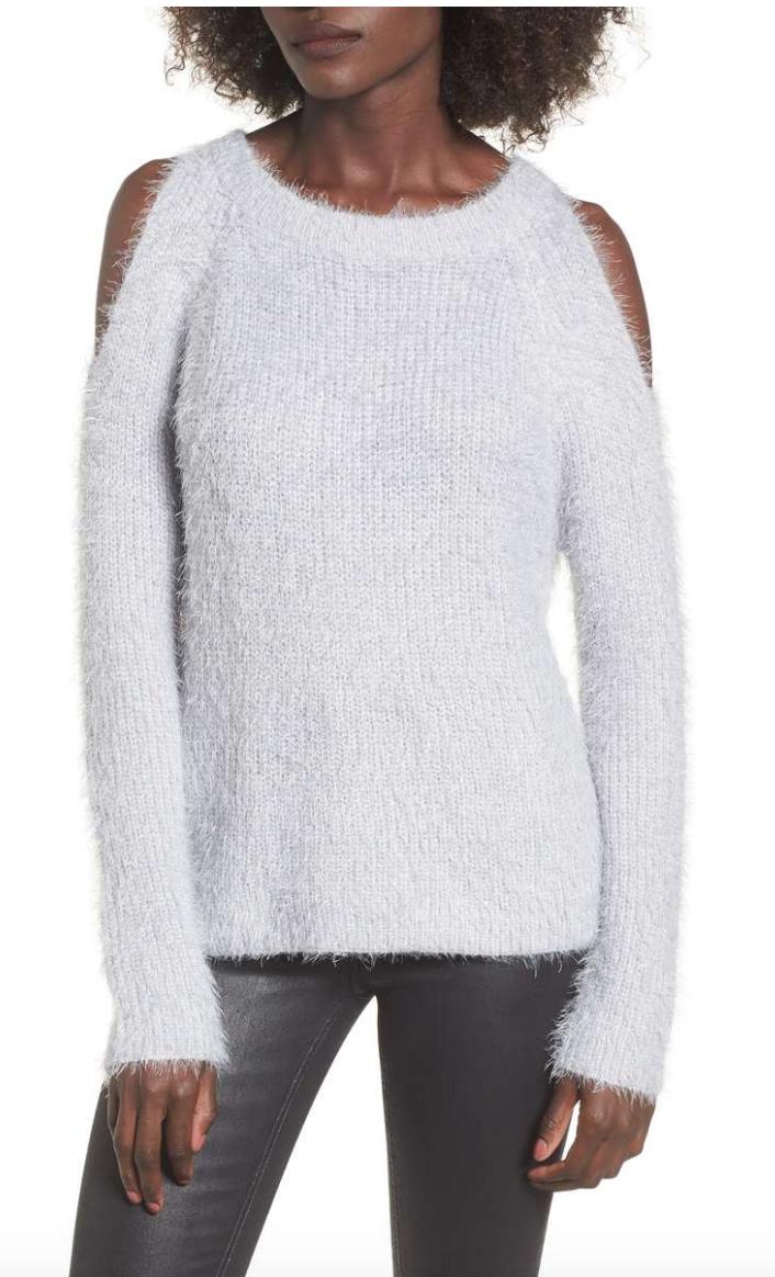 - Cold ShoulderSweaterWOVEN HEART