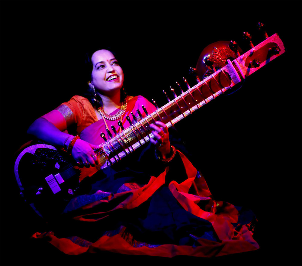 Sitar supremo: Dr Sarita McKenzie-McHarg has a doctorate in ethnomusicology and has performed all over the world.