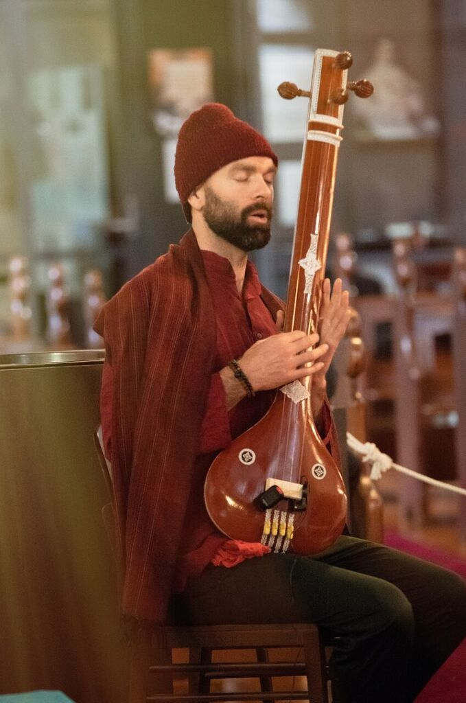 Vedic Vibe ensemble: Scott Fraser. Picture: Martin Reddy