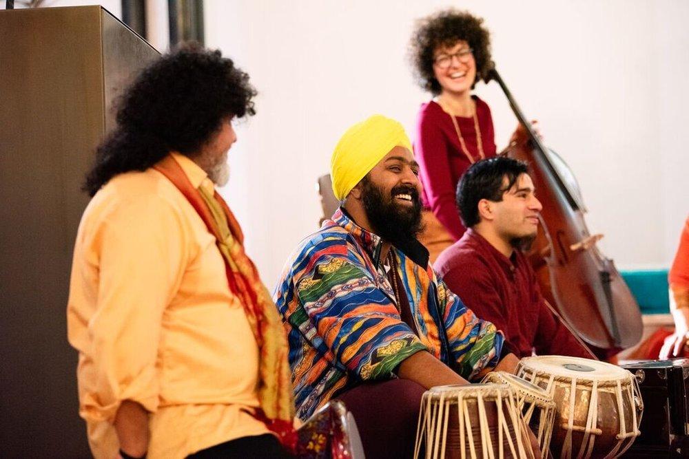 Vedic Vibe ensemble: Deborah Adelin, Govinda Puri, Jagdeep Shergill, Boaz Modman. Picture: Martin Reddy
