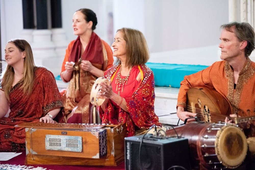 Vedic Vibe ensemble: Phil Gunter, Harb Gill, Stephanie Jackowski, Sam Cox. Picture: Martin Reddy
