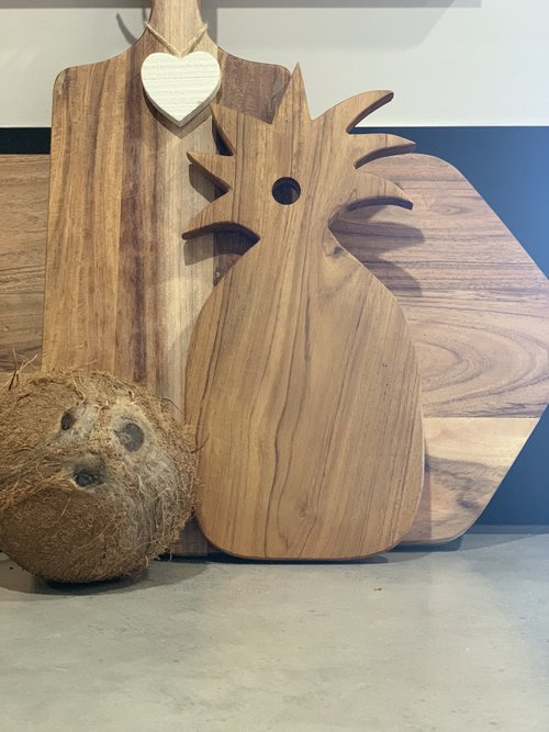 Natural Wood Pineapple Serving Tray