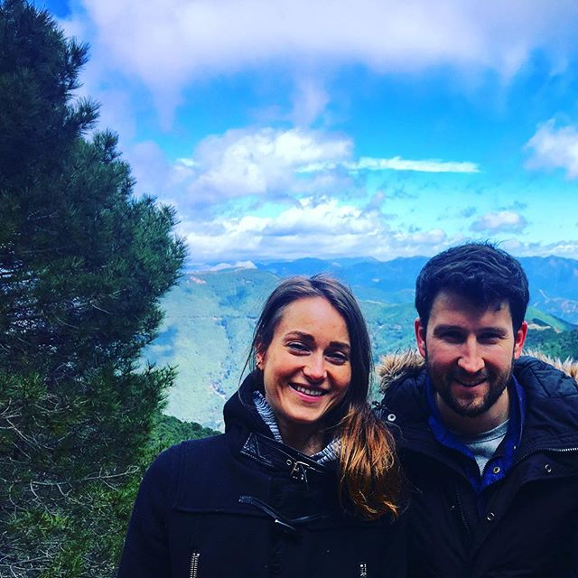 Weekend hike with @mylestullo. Incredible views in beautiful Spain - I don't want Monday to come! #mountains #hike #spain #sundayevening