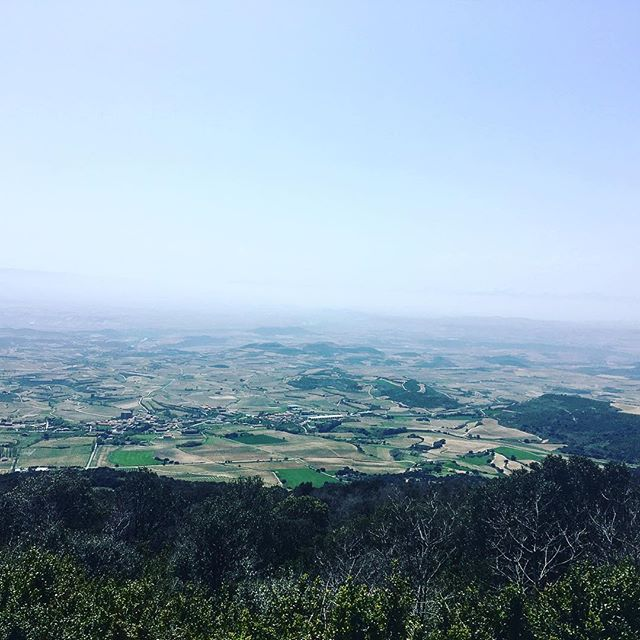 What a view - it was worth the sweat and legs nearly falling off from pedalling up such a giant mountain #rioja #spain #holiday #cycling