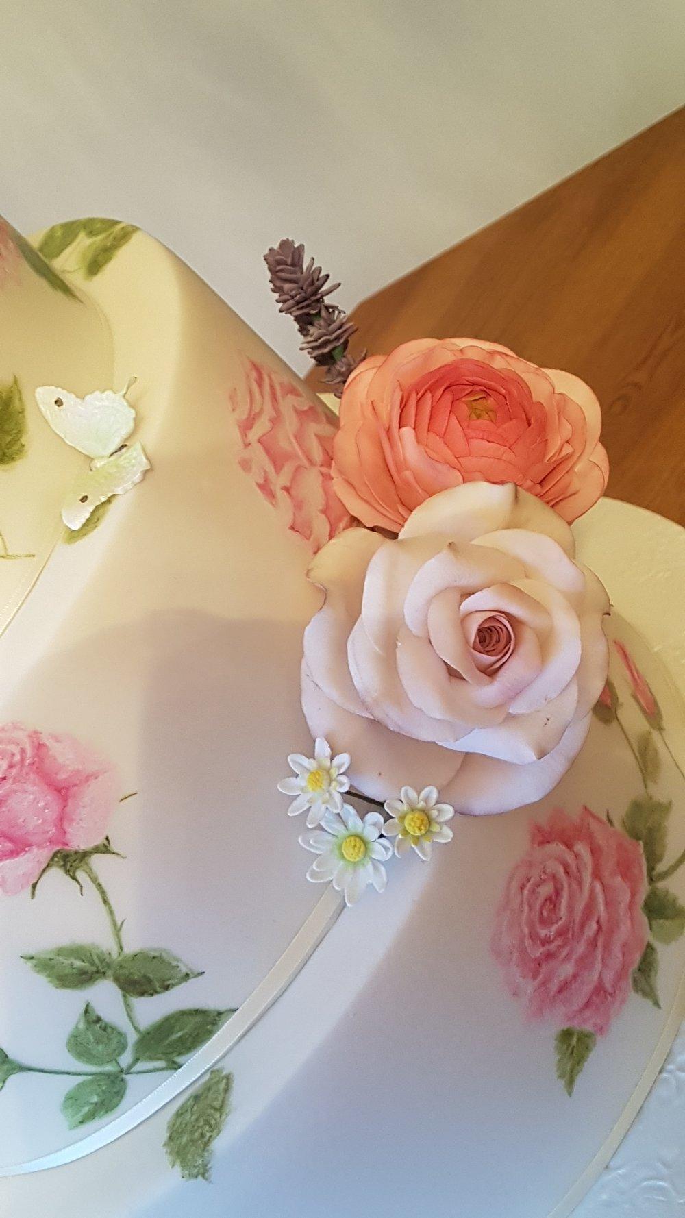 Rose Garden, sugar Daisy, Rose, Ranunculus, Lavender