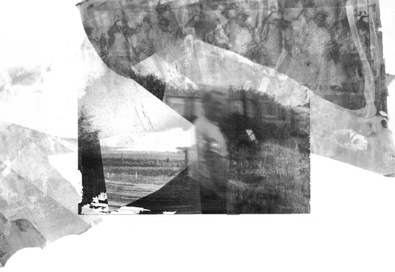 The Overprint.   Gelatin print over digital manipulation.  2017.