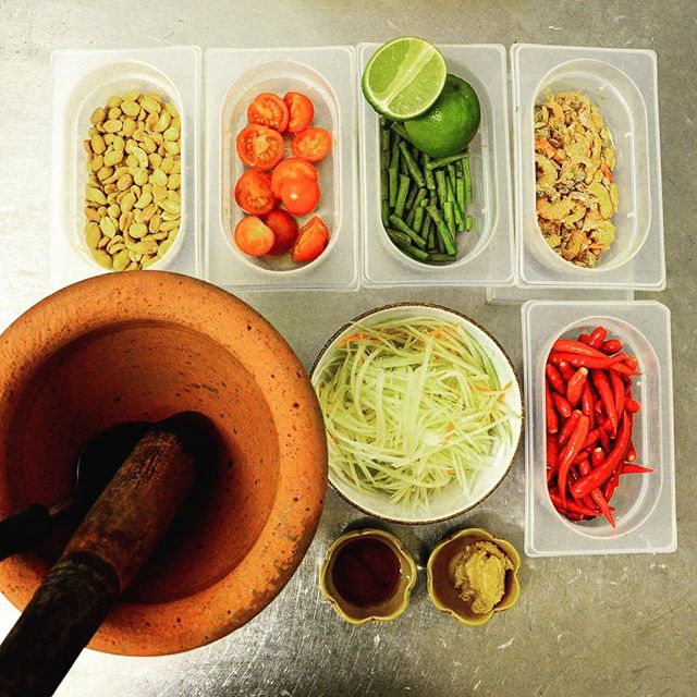 "Simple, but simply delicious - ""Som Tum"" aka ""Papaya Pok Pok"" #bangkok1974 #bangkokfood #foodporn #foodstagram #somtum #streetfood"